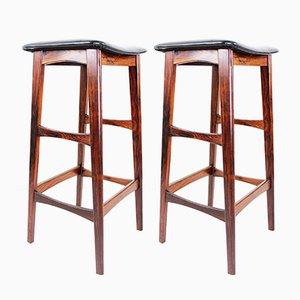 Danish Rosewood Bar Stools, 1960s, Set of 2