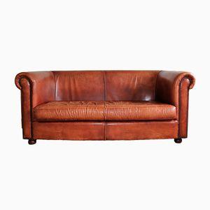 Sofá vintage de cuero