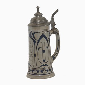 Vintage German Beer Stein, 1908