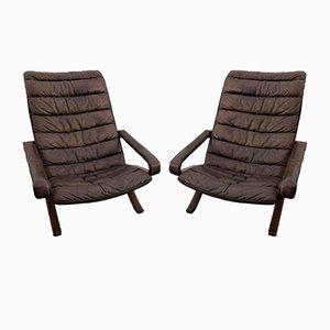 Flex Sessel mit hoher Rückenlehne von Ingmar Relling für Westnofa, 1970er, 2er Set