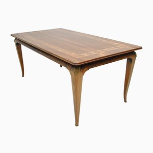 Mesa de comedor vintage de palisandro, años 30