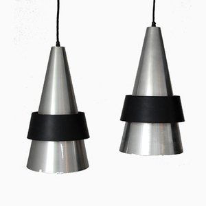 Danish Corona Pendants by Johannes Hammerborg for Fog & Mørup, 1960s, Set of 2