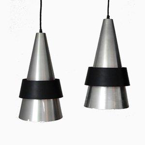 Lámparas colgantes Corona danesas de Johannes Hammerborg para Fog & Mørup, años 60. Juego de 2