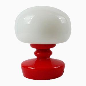 Lampada da tavolo vintage in vetro opalino, anni '60