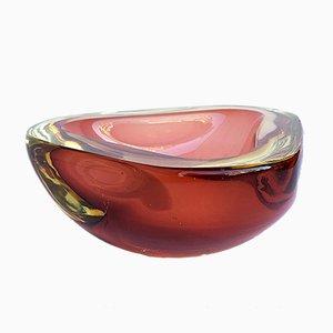 Posacenere in vetro di Murano ambrato di Flavio Poli, Italia, anni '60