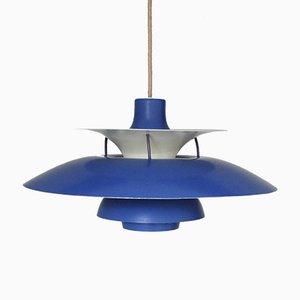 Lámpara colgante PH5 Mid-Century azul de Poul Henningsen para Louis Poulsen
