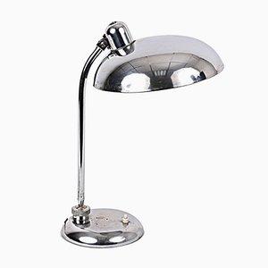 Lámpara de mesa industrial Bauhaus de acero, años 40