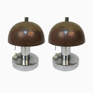 Bauhaus Table Lamps by Franta & Jaroslav Anýž, 1930s, Set of 2