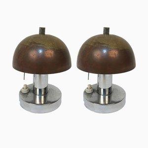 Lampade da tavolo Bauhaus di Franta & Jaroslav Anýž, anni '30, set di 2