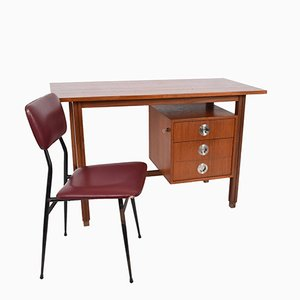 Scandinavian Desk & Chair, 1960s