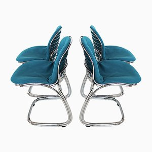 Italian Sabrina Chairs by Gastone Rinaldi for Rima, 1970s, Set of 4