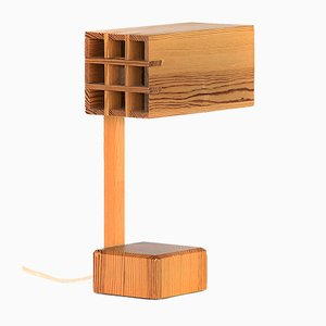 Adjustable Pine Table Lamp, 1960s