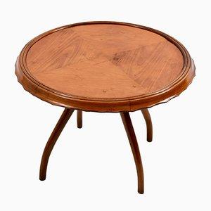 Tavolino vintage in legno di ciliegio di Osvaldo Borsani, anni '40