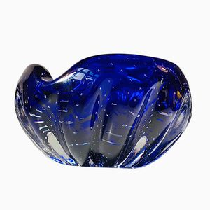 Vintage Blue Sommerso Murano Glass Ashtray, 1960s