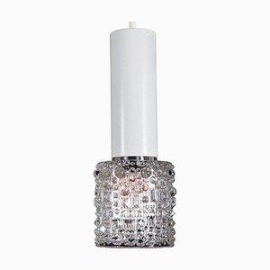 Lámpara colgante vintage de vidrio estructurado de Kalmar