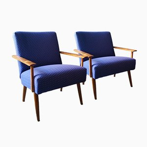 Mid-Century Austrian Lounge Chairs, 1950s, Set of 2