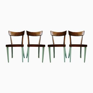 Austrian Dining Chairs from Wiesner-Hager, 1950s, Set of 4