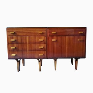 Mid-Century Mahagony Nightstands by František Jirák for Novy Domov, Set of 2