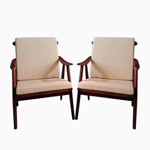 Mid-Century Lounge Chairs from TON, Set of 2