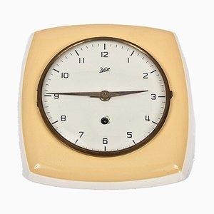 Reloj de pared Mid-Century de cerámica de Walt, años 50