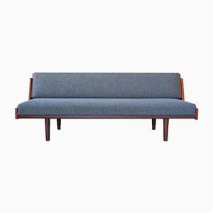 Sofá cama de teca de Hans J. Wegner para Getama, años 60
