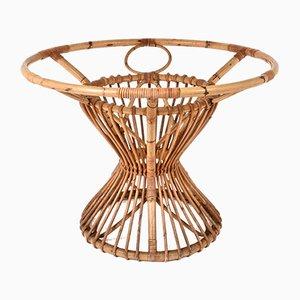 Tavolo in bambù e vimini, anni '60