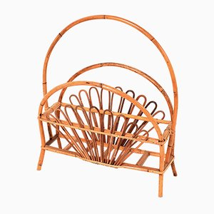 Bamboo and Rattan Magazine Rack by Franco Albini, 1960s