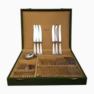 Silver 6-Person Cutlery Set from Christofle, 1970s