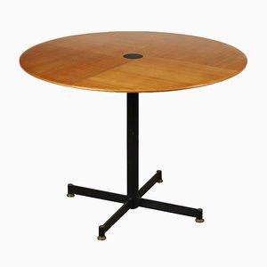 Tavolino da caffè vintage in metallo e legno impiallacciato in acero, Italia, anni '60