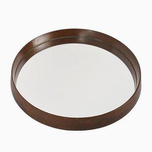 Scandinavian Circular Wall Mirror, 1960s