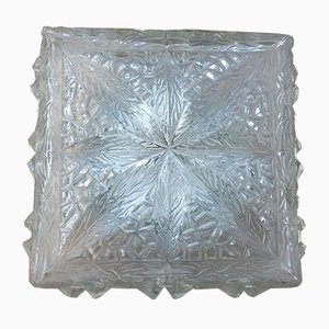 Moulded Glass Ceiling or Wall Light, 1960s