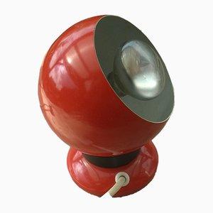 Skandinavische Vintage Tischlampe in Augapfel-Optik von ES HORN