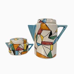 Albisola Teeservice aus Keramik mit futuristischem Muster von San Giorgio, 1960er