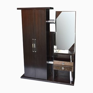 Wardrobe with Mirror, Light, Drawers and Umbrella Holders from Mobildei, 1970s
