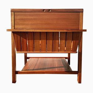 Danish Teak D12 Sewing Table by Børge Mogensen for FDB, 1960s