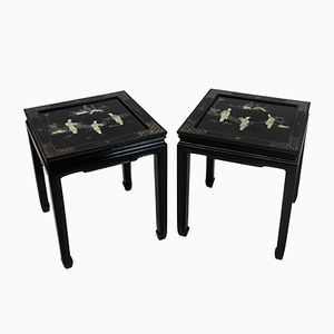 Vintage Side Tables, 1950s, Set of 2