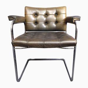 Mid-Century RH 305 Leather Armchair by Robert Haussmann for de Sede
