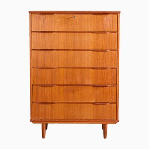Mid-Century Danish Teak Chest of Drawers, 1960s