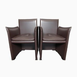 Vintage 401 Break Armchairs by Mario Bellini for Cassina, Set of 2