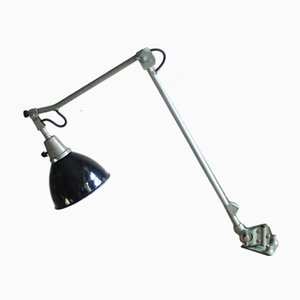 Vintage Hammered Metal Green-Grey 121 Work Lamp from Midgard