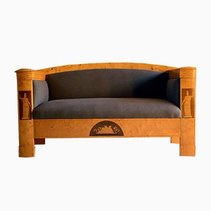 Antique Austrian Biedermeier Birch Sofa, 1830s