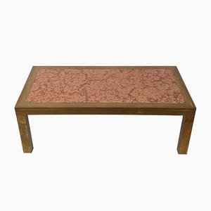 Mid-Century Modern Brass and Marble Coffee Table by Romeo Rega