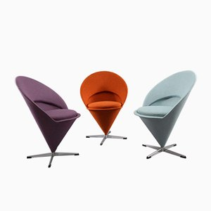 Cone Chairs by Verner Panton for Rosenthal, 1958, Set of 3