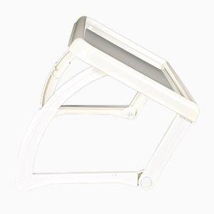 Bandeja para la cama reclinable de ABS blanco de Giugiaro para Guzzini, años 80