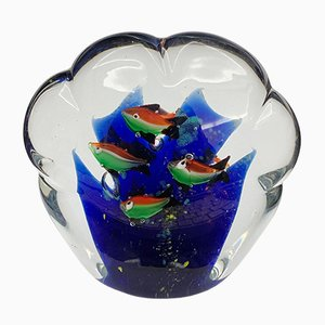 Murano Glass Aquarium Paperweight, 1960s