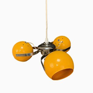 Italian 3-Light Adjustable Chandelier, 1970s