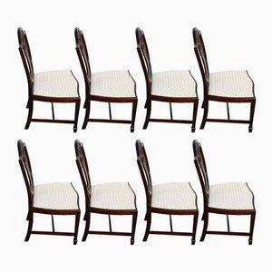 Wheatsheaf Esszimmerstühle mit Gestell aus Mahagoni, 1960er, 8er Set