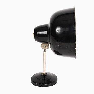 Lámpara de escritorio ajustable esmaltada, años 40