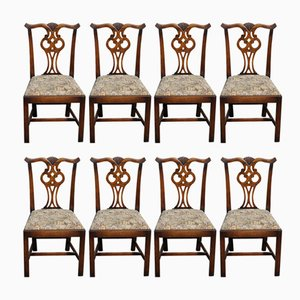 Oak Highback Dining Chairs, 1960s, Set of 8