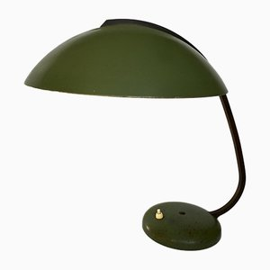 Bauhaus German Green Metal Desk Lamp, 1930s